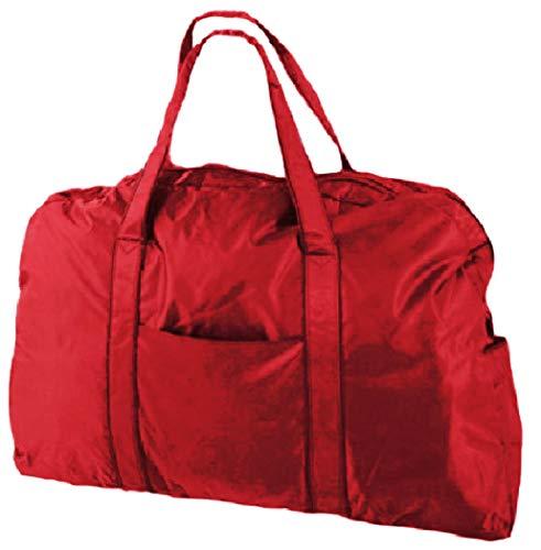 大容量旅行バッグ ナイロン 大型 ダッフルバッグ キャリングバッグ 軽量 ショルダー 2way (赤)