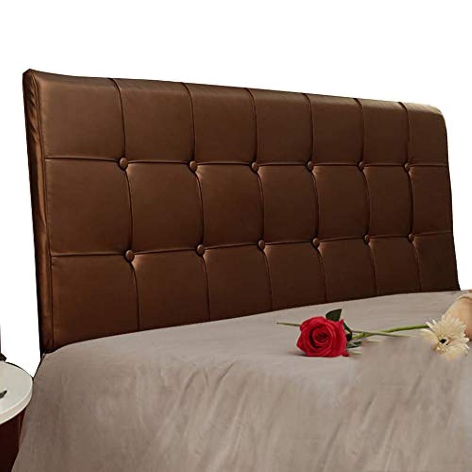 とにかく輸送自明LIANGLIANG クションベッドの背もたれダブルピープル特大スポンジ充填ベッドヘッドレスト洗える快適な高品質PU、6色、12サイズ (色 : Brown, サイズ さいず : 120x58x6cm)