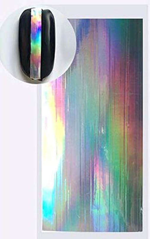 小道棚バスSUKTI&XIAO ネイルステッカー 1ピースレーザー星空ネイル箔ホログラフィック紙ゴールドシルバーデカールマニキュアネイル接着剤、ベージュ