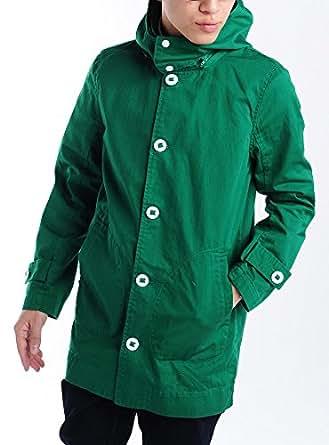 グリーン L (ベストマート) BestMart スプリング ツイル フード ショップコート メンズ ロング メンズ 春 夏 秋 冬 618080-006-306
