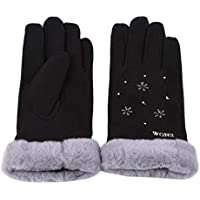 LALANG Women Simple Winter Outdoor Sport Thick Warm Gloves