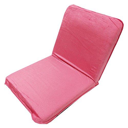 座椅子 コンパクト 14段階 リクライニング (ピンク)