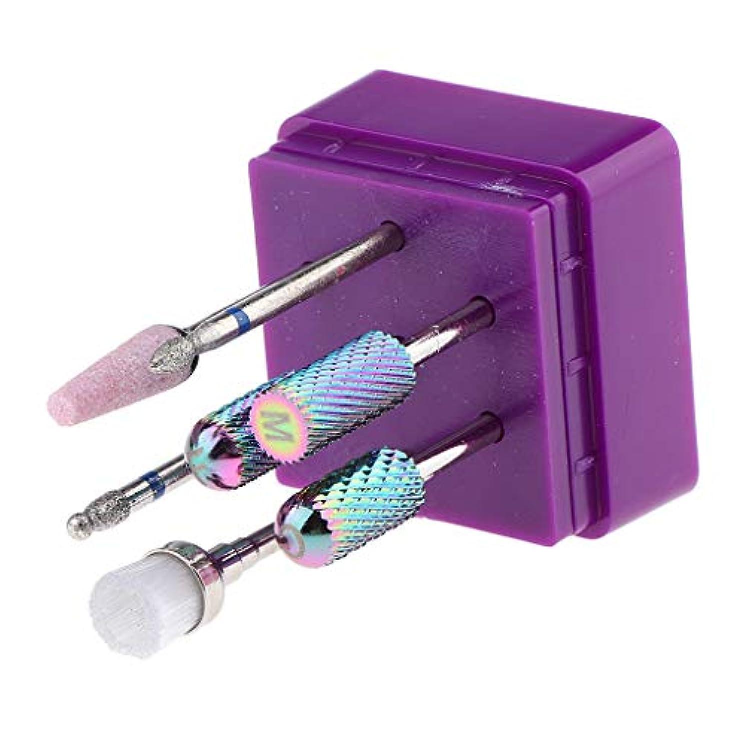 うっかりであることブラウンB Baosity 電気ネイルマシン 研削ヘッド 研磨 ドリルビット ネイルアート ネイルサロン