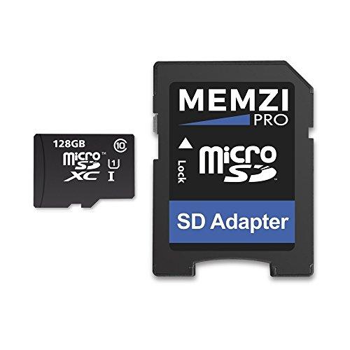 Memzi Pro 128GBクラス1080MB / s Micro SDXCメモリカードSDアダプタfor Sony XperiaシリーズタブレットPCの