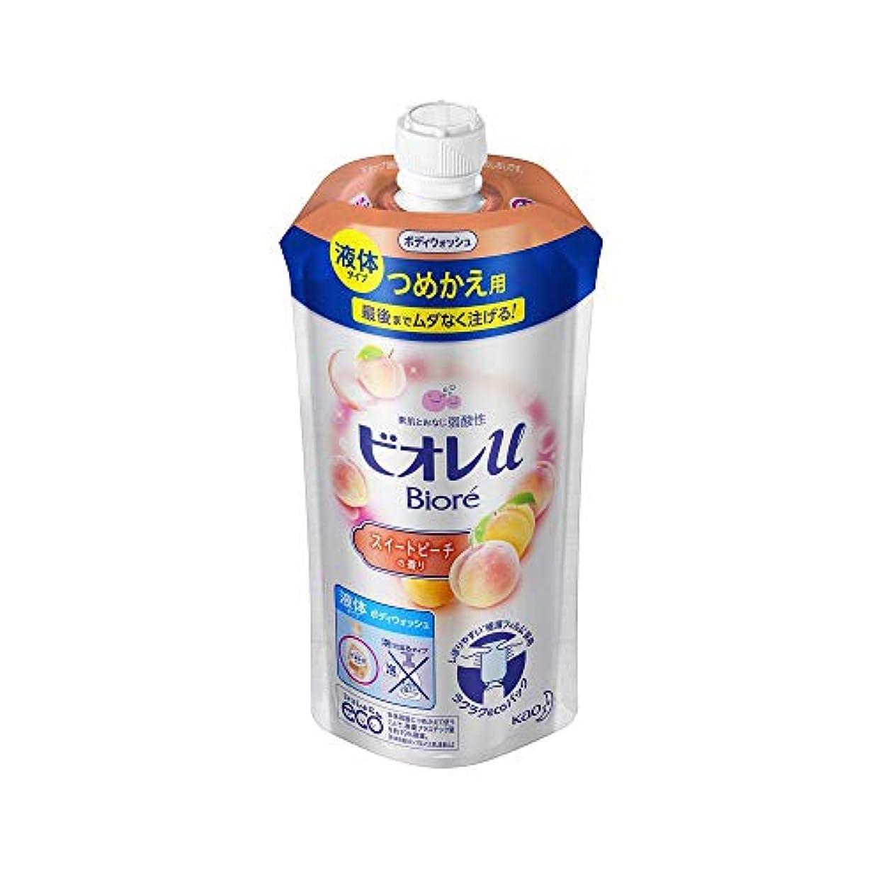 磁器努力する参加者花王 ビオレu スイートピーチの香りつめかえ用 340ML