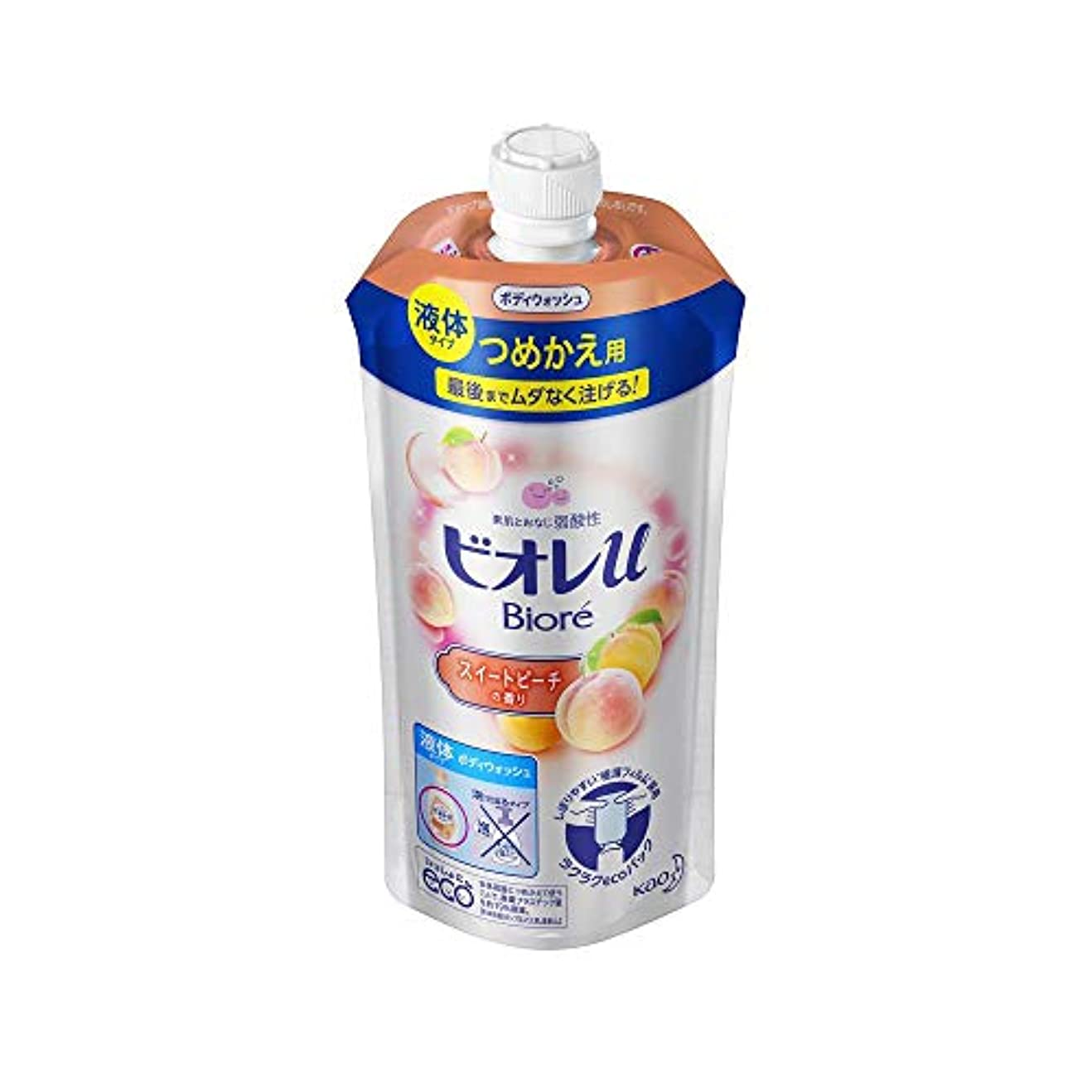 ミネラルリフト郵便物花王 ビオレu スイートピーチの香りつめかえ用 340ML
