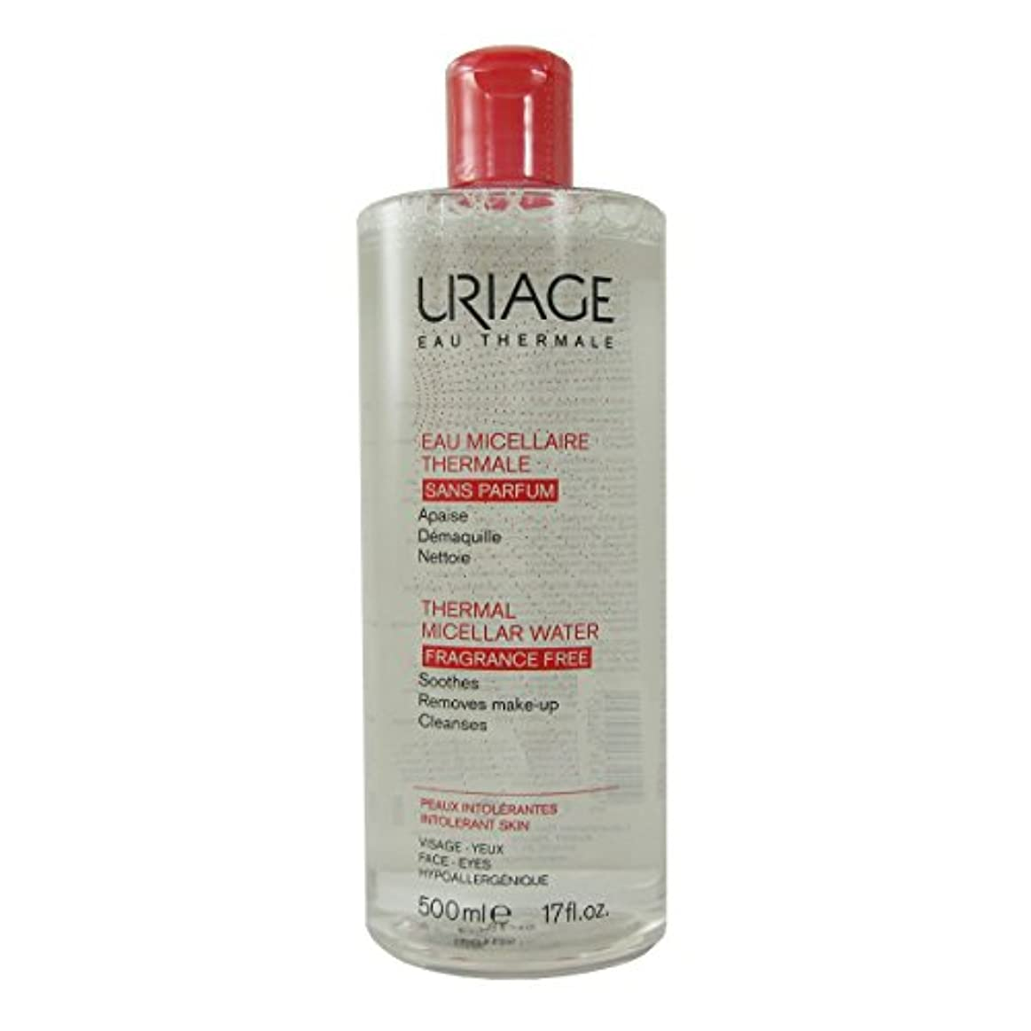 脇に後ろに小説Uriage Thermal Micellar Water Fragrance Free Intolerant Skin 500ml [並行輸入品]