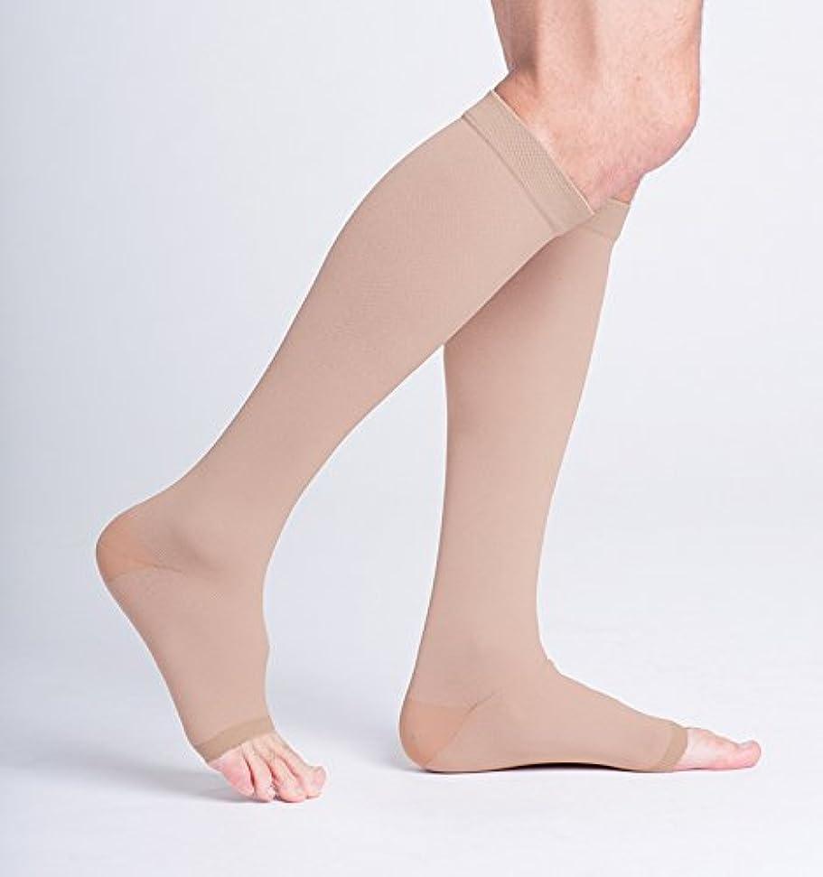 アルコール部パステルSigvaris Natural Rubber Knee High 30-40mmHg Open Toe, M4, Beige by Sigvaris