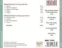 String Quintets Kv516 & 614