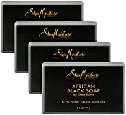 SheaMoisture Face and Body Bar for Oily, Blemish-Prone Skin African Black Soap Paraben Free