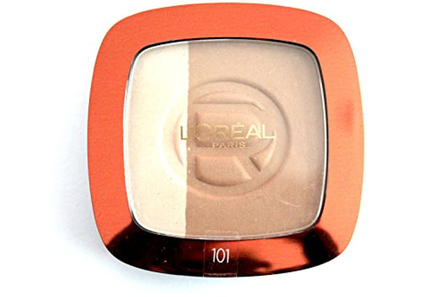 ギャンブルとティーム反論者Loreal Glam Bronze hochglänzenden Powder Blonde Harmony 101