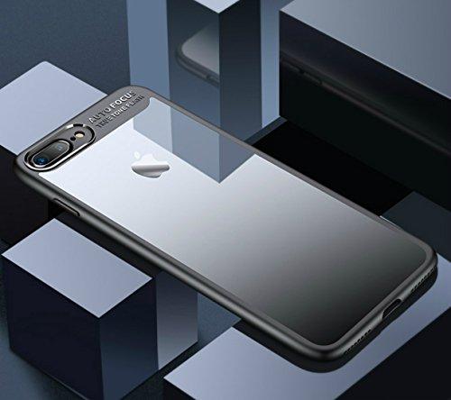 EC-MART iPhone7 Plusケース iPhone8 Plusケース カバー 透明PC+柔らかなTPU クリア 軽量 衝撃防止 擦り傷防止 高級感 薄型 iPhone7 Plus ケース iPhone8 Plus ケース アイフォン7 Plusケース アイフォン8 Plusケース カバー 携帯カバー (iPhone8 Plus/7 Plus, ブルー)