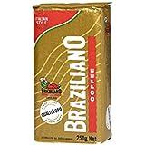 Braziliano Qualita Oro Blend Ground Coffee Vacuum Pack, 250 g