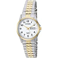 Citizen Women's ' Quartz Stainless Steel Casual Watch, Color:Two Tone (Model: EQ2004-95A)