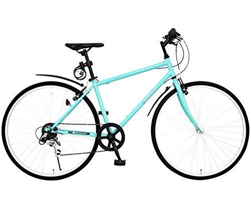 SPEAR(スペア)クロスバイク 700C フェンダー LEDライト カギ セット 変速 6段 SPC-70063 適用身長 160cm 以上 1年保証付