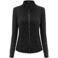 Queenie Ke Women's Sports Define Jacket Slim Fit And Cottony-Soft Handfeel