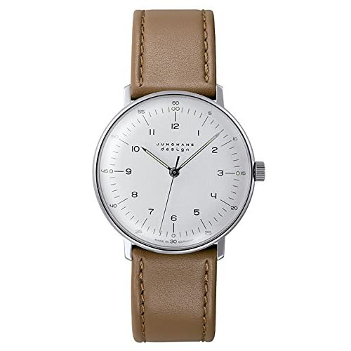 [ユンハンス]JUNGHANS 腕時計 マックスビル ハンドワインド ホワイトダイアル ブラウンレザー メンズ [並行輸入品]