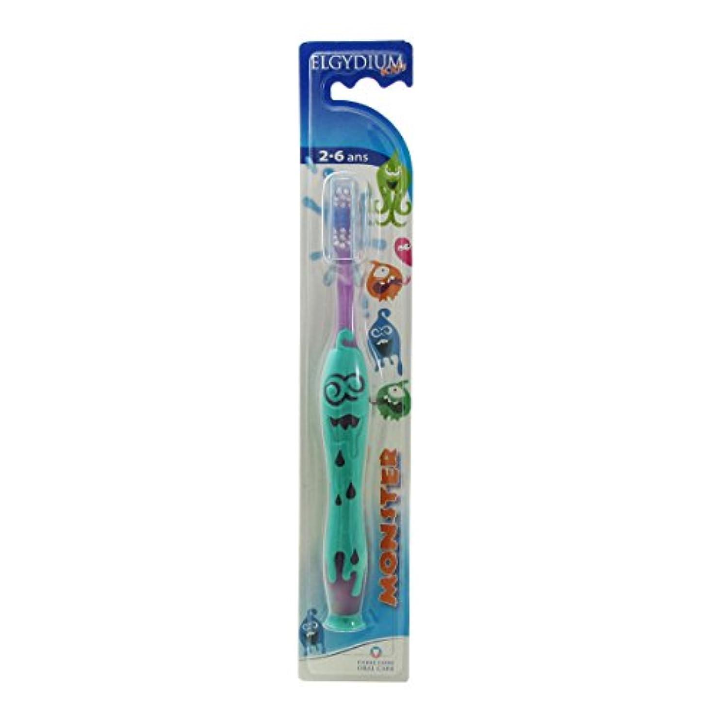 送る趣味魅惑するElgydium Kids Monster 2/6 Soft Toothbrush [並行輸入品]