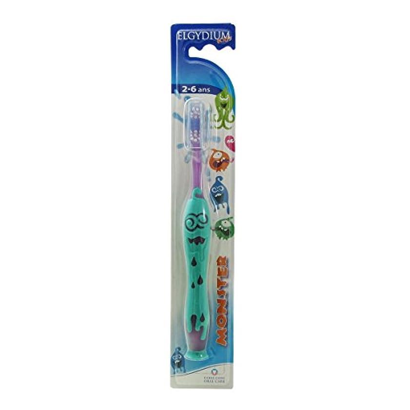 バンジージャンプ工場問い合わせElgydium Kids Monster 2/6 Soft Toothbrush [並行輸入品]