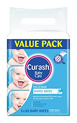 Curash Water Baby Wipes Pack of 240