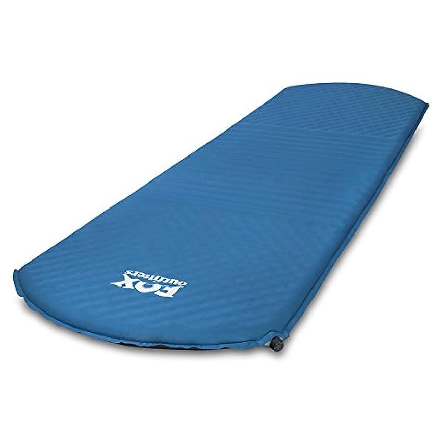スポーツマンシェフ春フォックスアウトフィッターズ コンフォートシリーズ 自己膨張マットレス - バックパック旅行、ハイキング、キャンプに最適な睡眠用スポンジパッド。コンフォート100ロング