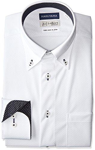 [ハルヤマ] i-shirt 完全ノーアイロン 長袖 ボタンダウンアイシャツ メンズ M151180077 ホワイト 日本 LL84(首回り43cm×裄丈84cm)-(日本サイズXL相当)