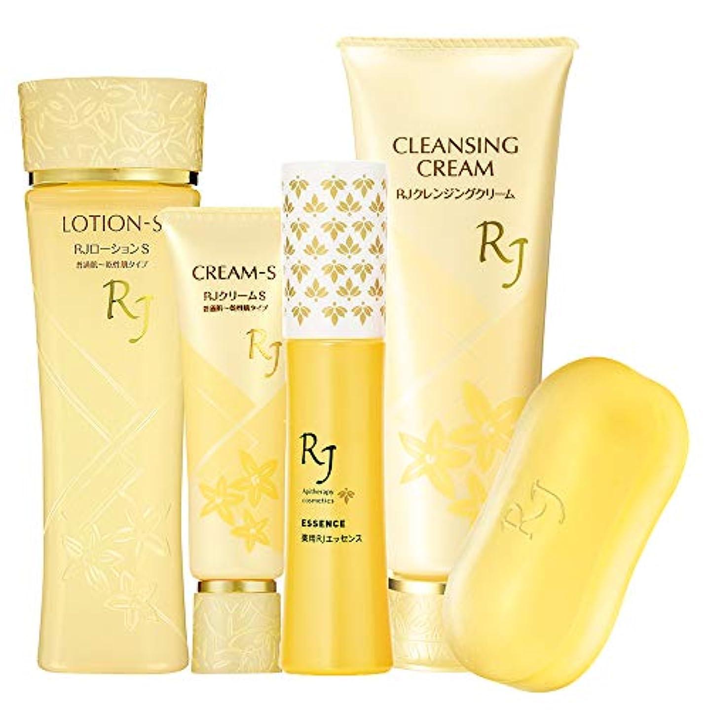 石油いろいろナイトスポットRJスキンケア5点Sセット(RJスキンケアソープセット) 普通肌~乾性肌(乾燥肌)タイプ