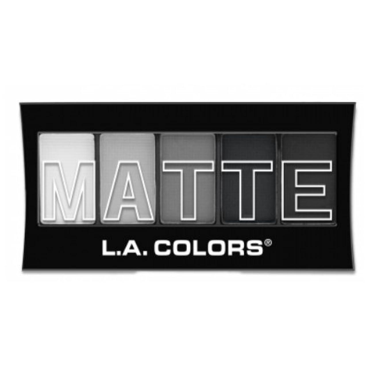 つぼみ回想干ばつ(3 Pack) L.A. Colors Matte Eyeshadow - Black Lace (並行輸入品)