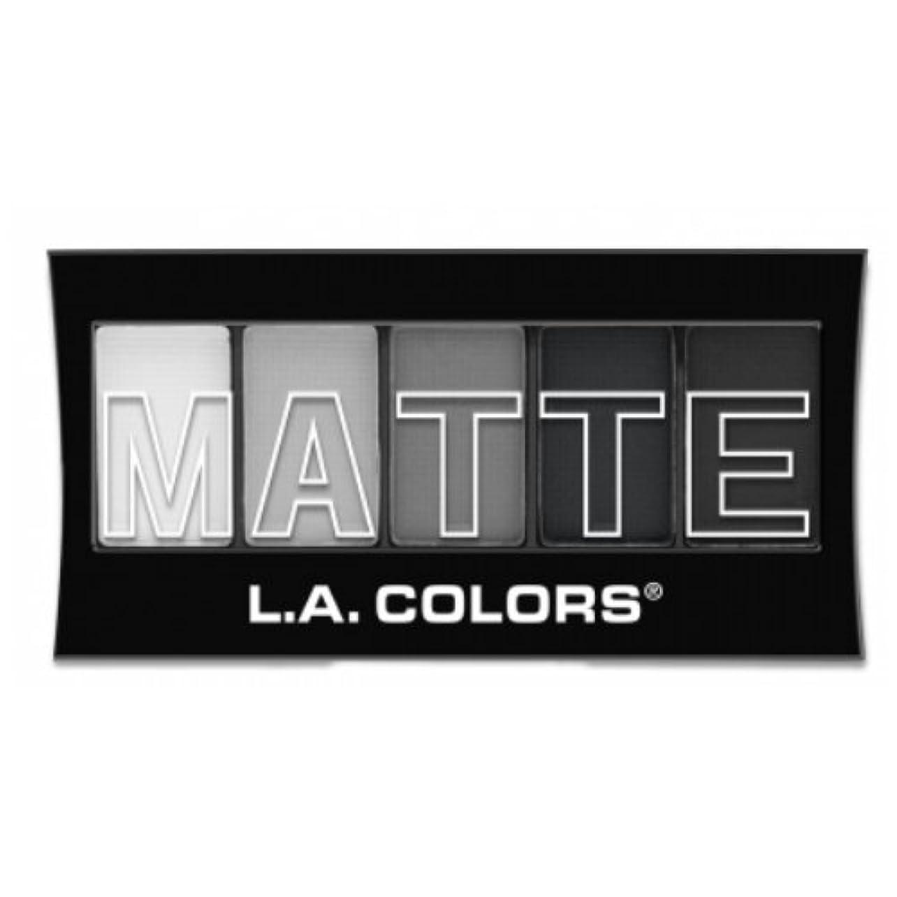 ゴム終点世辞(3 Pack) L.A. Colors Matte Eyeshadow - Black Lace (並行輸入品)