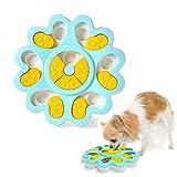 Andiker 犬食玩具-ペットの知能インタラクティブな玩具、iqを上げて犬のトレーニングゲームに给食器を与え、噛むことに耐えて滑り止めに适する幼いペット、ゆっくり食べることボールを食べるのが早すぎるこ (ブルー)