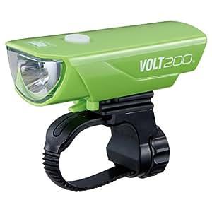 キャットアイ(CAT EYE) LEDヘッドライト VOLT200 HL-EL151RC USB充電式 グリーン