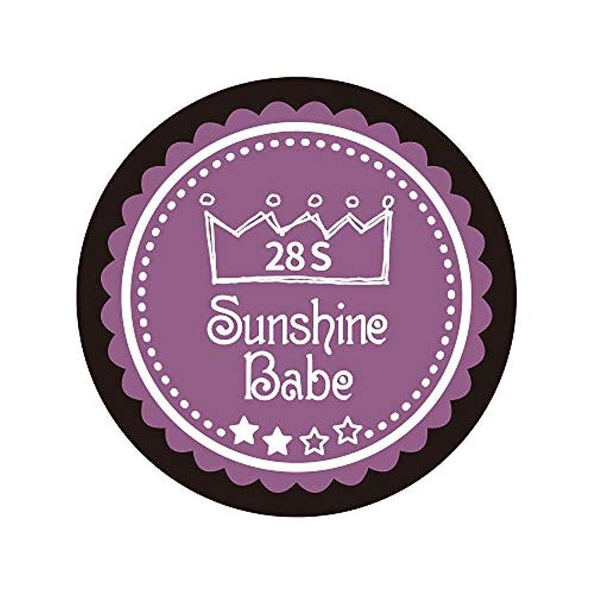 疑い者苛性ストリップSunshine Babe カラージェル 28S パンジーパープル 2.7g UV/LED対応