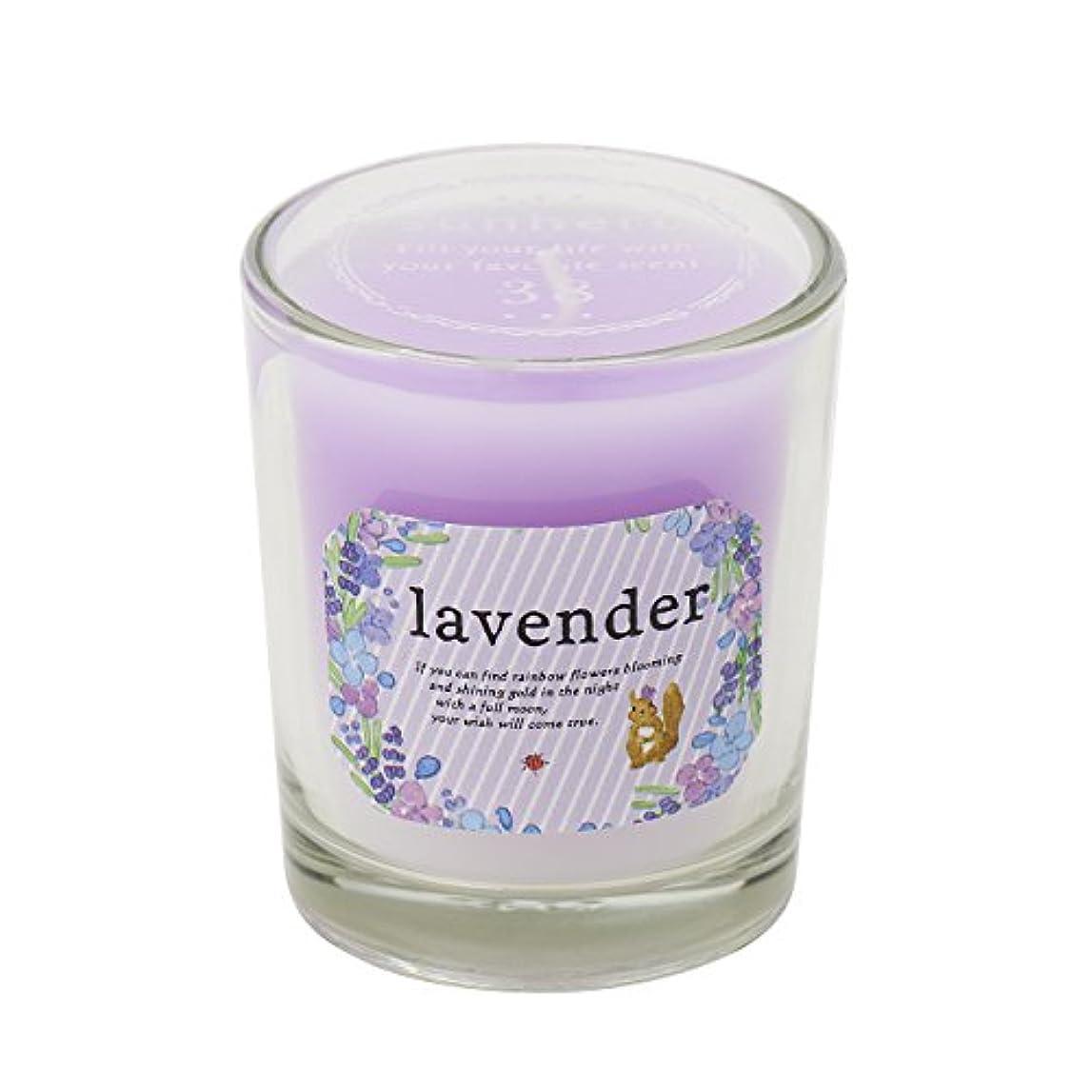 告発リー挽くサンハーブ グラスキャンドル ラベンダー 35g(グラデーションろうそく 燃焼時間約10時間 ふわっと爽やかなラベンダーの香り)