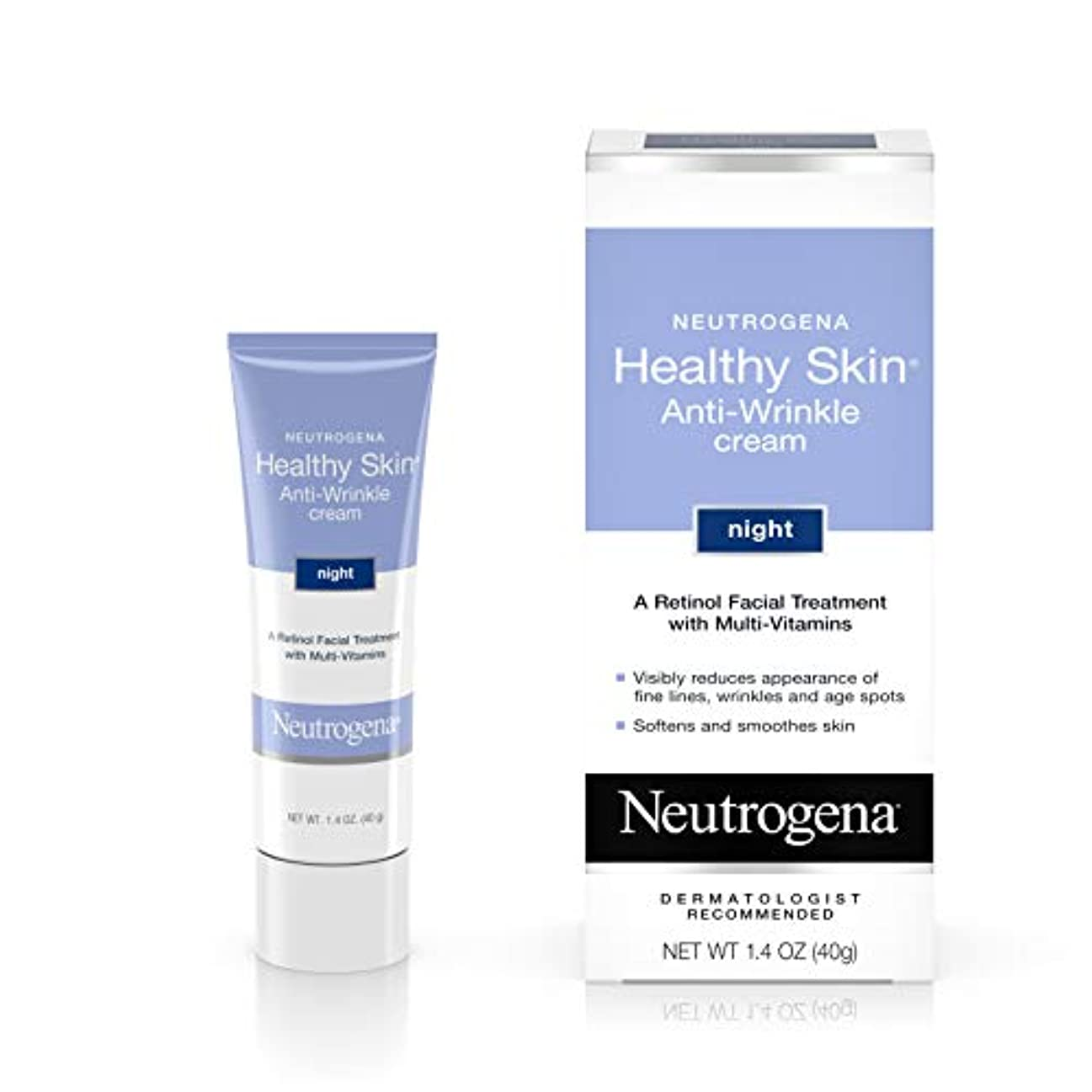 動詞比べる必須海外直送肘 Neutrogena Healthy Skin Anti-Wrinkle Night Cream, 1.4 oz