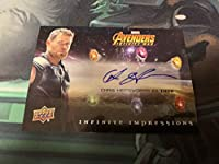 2018 2019 Avengers Infinity Wars Chris Hemsworth As Thor Auto SSP直筆サイン クリス・ヘムズワース