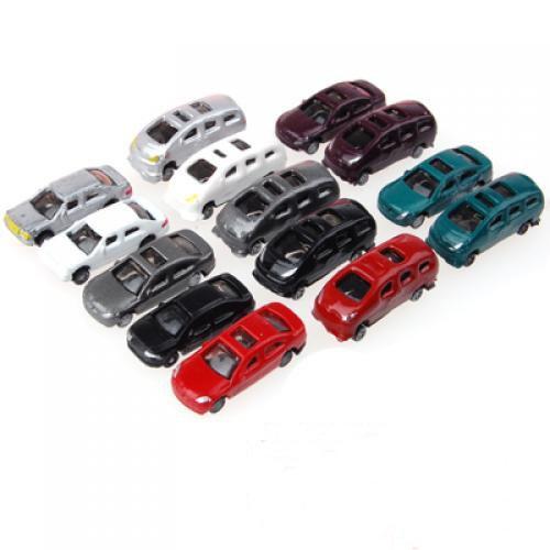 約100台 車 自動車 塗装車 カー モデルカー ミニカー 情景コレクションザ・鉄道模型・ジオラマ・...
