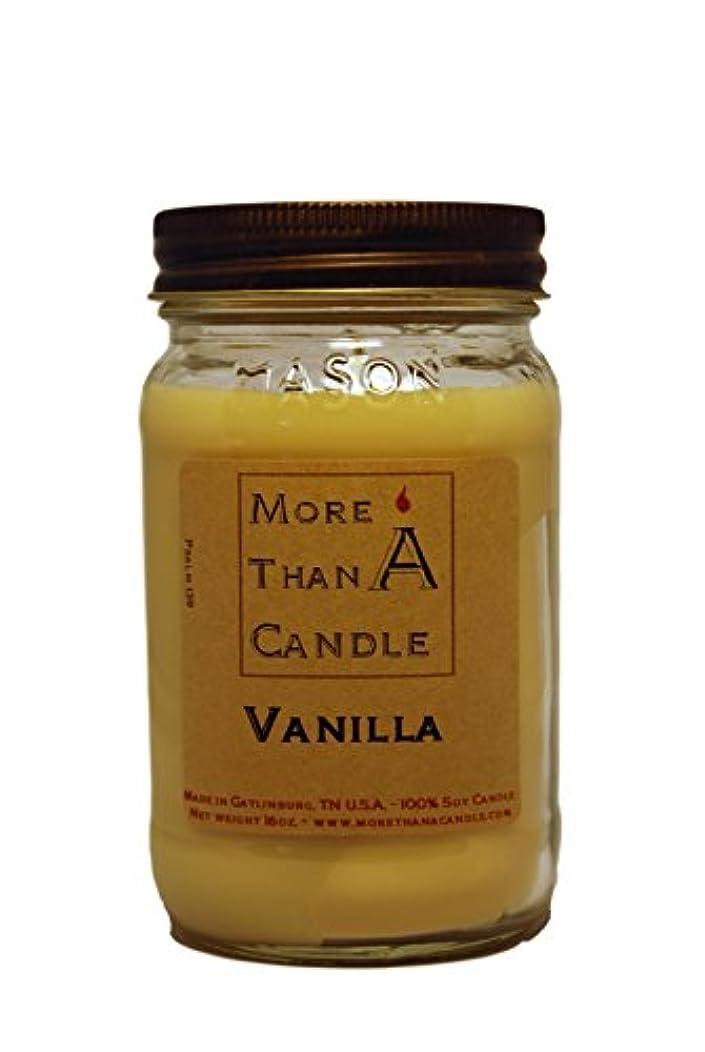 More Than A Candle VNA16M 16 oz Mason Jar Soy Candle, Vanilla