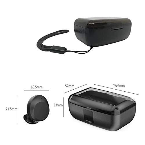 『zhongxinze 【進化版 3000mAh IPX8完全防水】Bluetooth イヤホン Hi-Fi 高音質 最新Bluetooth5.0+EDR搭載 3Dステレオサウンド 完全ワイヤレス イヤホン 自動ペアリング ブルートゥース イヤホン AAC対応 左右分離型 Siri対応 音量調整可能 超大容量充電ケース付き 片耳&両耳とも対応 iPhone/ipad/Android適用 (ブラック)』の6枚目の画像