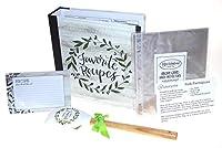 レシピブックセット – ブラウンローヴィンテージグリーン「Favorite Recipes」レシピバインダー 4 x 6レシピカード タブ付きディバイダー 追加のレシピカード プロテクターページ & ボーナスレシピ2冊 Hickoryville