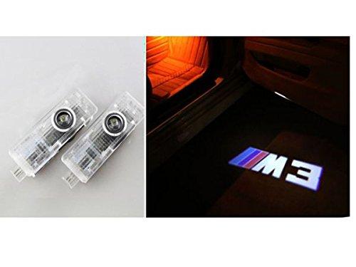【WORLD STORE】BMW 高品質 カーテシ LED M3ロゴ レーザーロゴライト アンダースポット / ドアレーザーライト / カーテシライト 配線不要 / 純正交換タイプ BMW M3