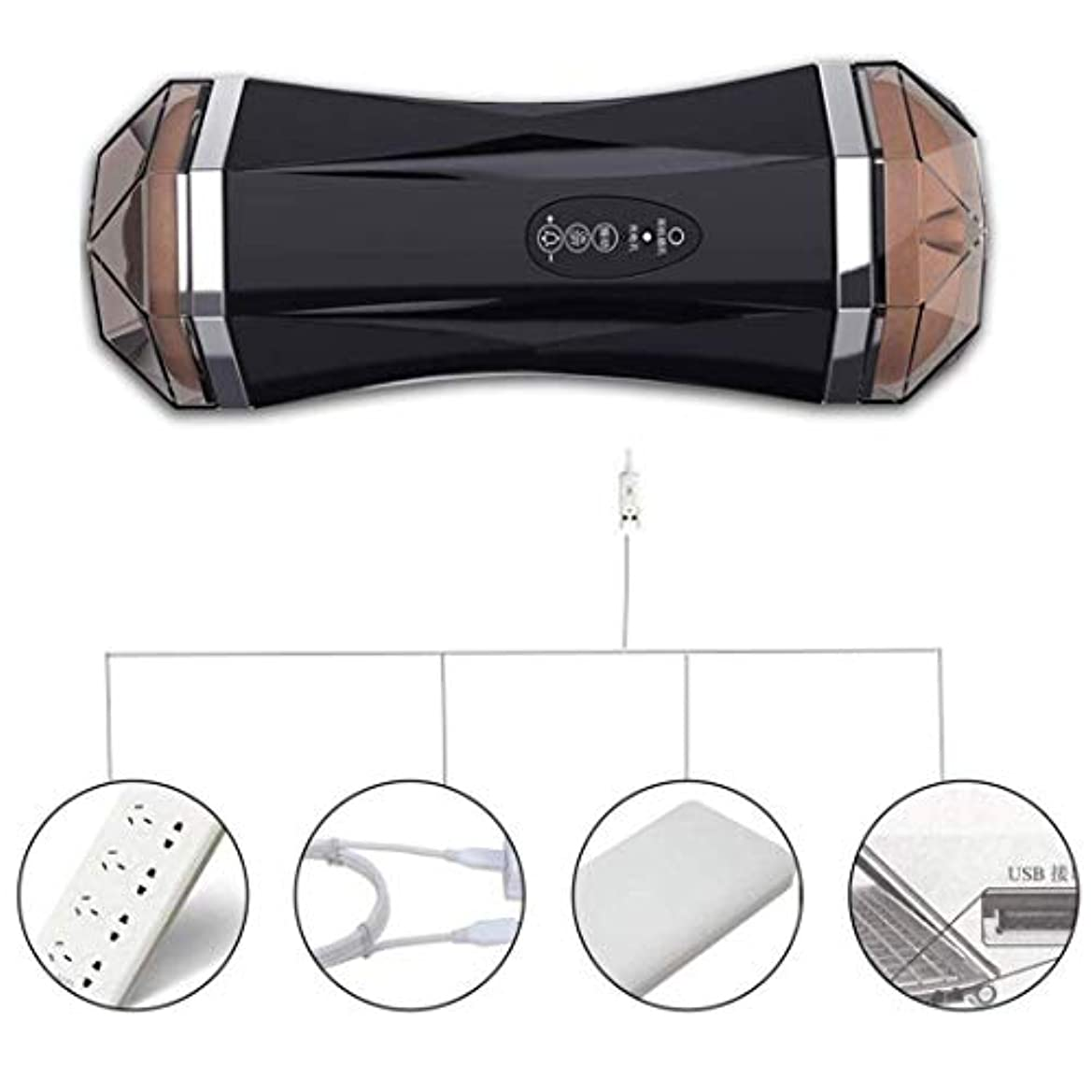 CRFJB 男性用Tシャツアンダーウェアノイズレスリアルインテリジェント8周波数PístonVǐbrǎtiǒnMássageCup Handheld Personal Body Massager