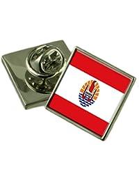 フランス領ポリネシアの旗ラペルピンバッジ 18 mm ギフトポーチを選択します