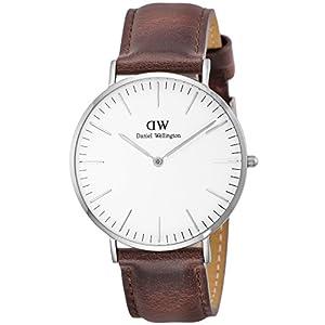 [ダニエル・ウェリントン]DanielWellington 腕時計 Classic St Mawes ホワイト文字盤 カーフレザーベルト DW00100021 メンズ 【並行輸入品】