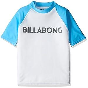 (ビラボン) BILLABONG 子供用 半袖 ラッシュガード 水着 (UVカット機能:UPF50+) 【 AH015-850/RASH GUARD 】 AH015-850 WTB WTB_ホワイト 150