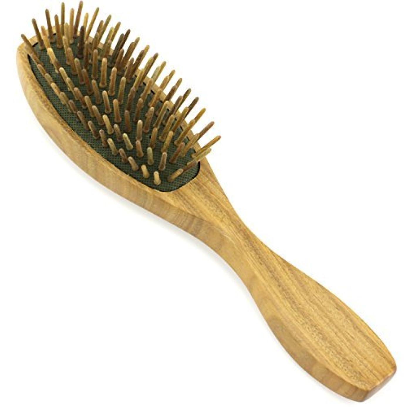 形式牛眉をひそめるEvolatree - Evolatree - Wood Bristle Brush, Wood Comb Hair Comb, Wood, 8.25