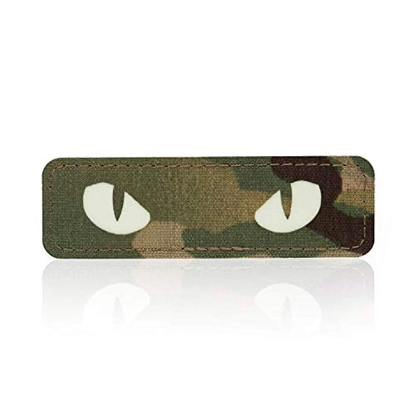 観点ひねり研磨剤M-Tac Cat Eyes Morale ワッペン タクティカルパッチ ミリタリーコンバットフックファスナー