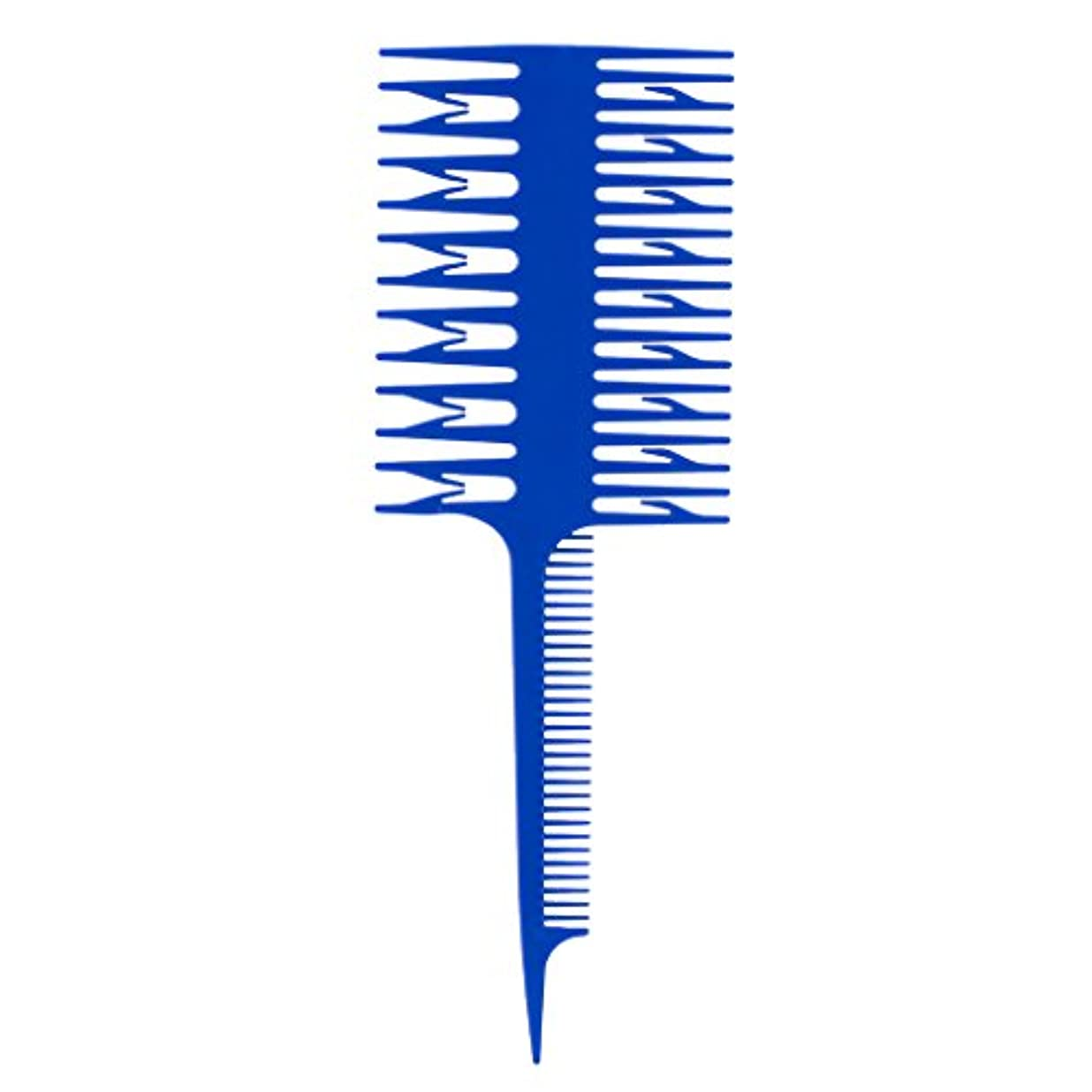 パイント意味のあるコンパス染色櫛 染色コーム ハイライトコーム くし 櫛 3ウェイ ヘアコーム ヘアカラー 全3色選べる - 青