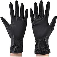 使い捨て手袋 ニトリルグローブ ホワイト 粉なし 工業用/医療用/理美容用/レストラン用 M/L選択可 100枚 左右兼用 作業手袋(M)