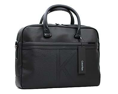 (カルバンクライン) Calvin Klein ブリーフケース ビジネスバッグ  K50K502357  ブラック PVC(ポリ塩化ビニル) [並行輸入品]