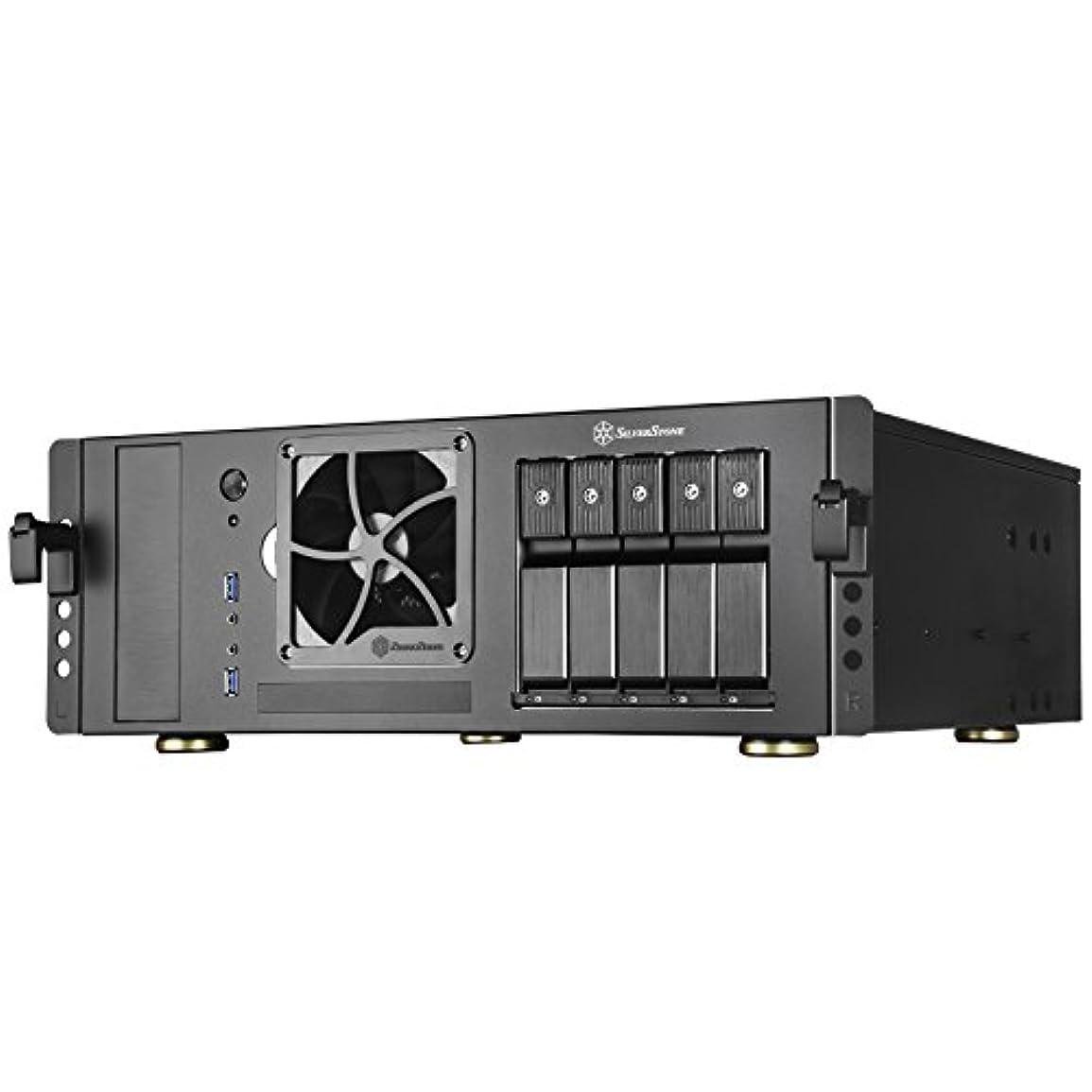 沈黙連邦ガイダンスSilverstoneテクノロジーsst-cs350b ATXラックマウント型サーバCase With 5 SATA / SAS 6ギガビット/ Sトレイと標準PSUサポート